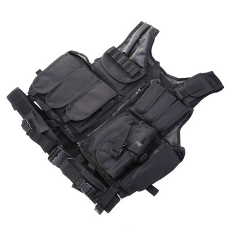 img-Adjustable Tactical Field Military Airsoft Combat Plate Carrier Vest Clothes UK