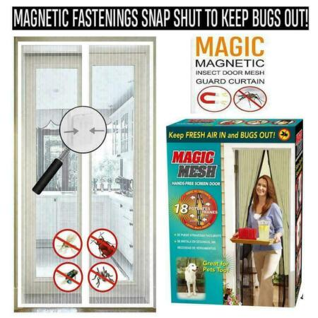 img-MAGIC MESH MAGNETIC CURTAIN NET SCREEN FLY MOSQUITO INSECTS BUGS DOOR HANDS FREE