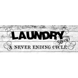 ''Laundry a never ending cycle'' Wall Sticker Vinyl Sticker