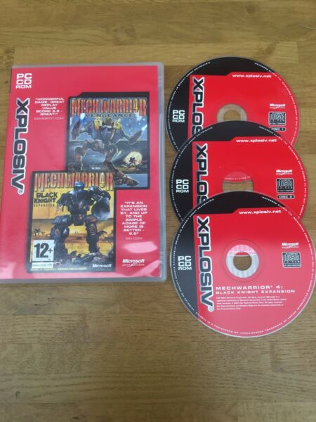 Mechwarrior 4: Vengeance & Black Knight Expansion For PC - Free Postage
