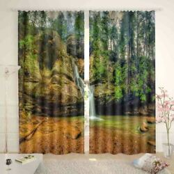 Green Clear Nice Spring 3D Curtain Blockout Photo Printing Curtains Drape Fabric