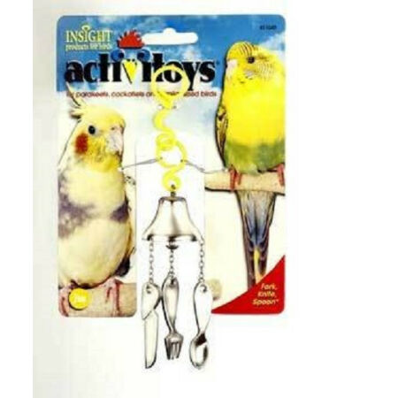 img-JW PET BIRD TOY FORK KNIFE SPOON PARAKEET COCKATIEL. TO THE USA