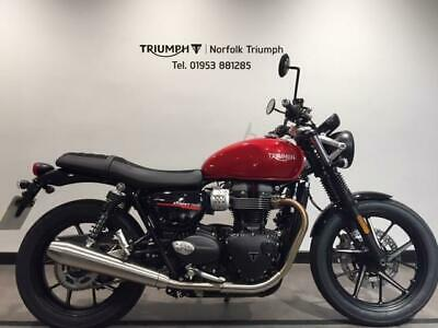 2020 Triumph BONNEVILLE STREET TWIN 900cc (20MY) Premium Paint Petrol red Manual
