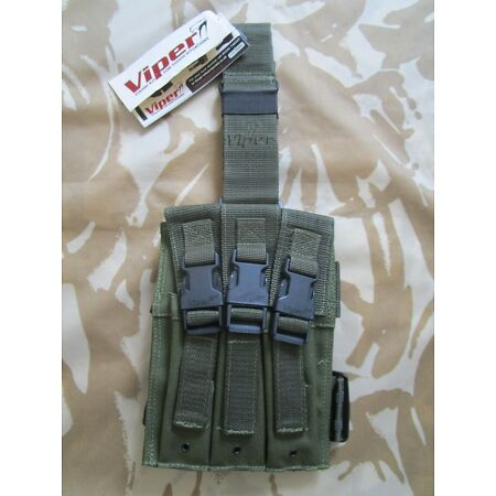 img-VIPER MP5 Drop Leg mag POUCH holster knife survival TACTICAL molle army BLACK BN