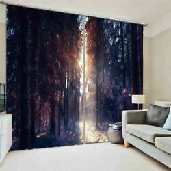 Brown Gap Nice Forest 3D Curtain Blockout Photo Printing Curtains Drape Fabric
