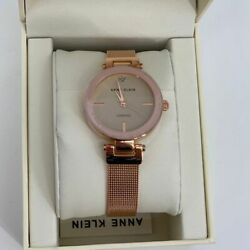 Kyпить Anne Klein Women's Rose Gold Mesh Band Watch - NEW на еВаy.соm