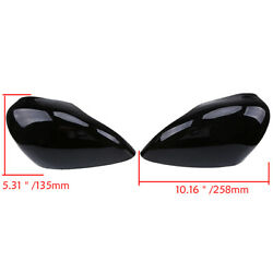 Pair Gloss Black Wing Mirror Cover Cap Painted For Ford Fiesta MK7 2008-2017 UK