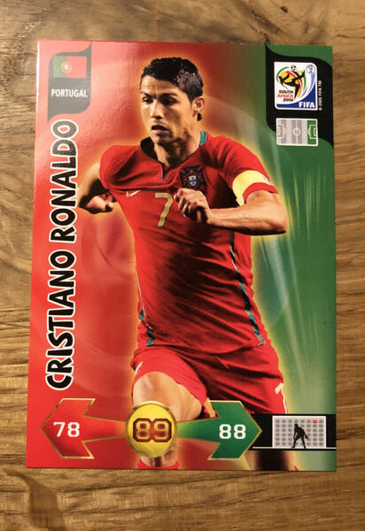 CRISTIANO RONALDO Panini ADRENALYN XL World Cup 2010 Trading Card Portugal Mint