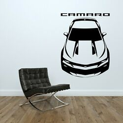 Chevrolet Camaro SS RS Wall Decal Graphic Man Cave Racing Room Vinyl Sticker