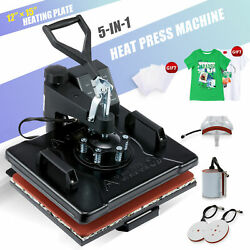 Kyпить 5-in-1 Heat Press Machine 360 Swivel Multifunction Industrial Press 12x15in на еВаy.соm