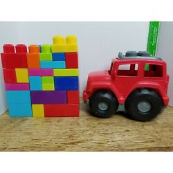 Kyпить Mega Bloks Red Jeep & 30 Pieces of Blocks Set       (Bx8B4) на еВаy.соm