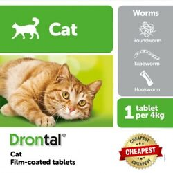 Bayer Cat Dewormer Treatment for Tape & Round Worm 16/24/48/80/120 Tabs EXPRESS