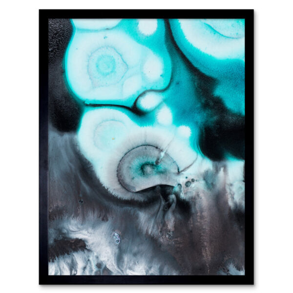 Royaume-UniAbstract Swirl Paint  12X16 Inch Framed Art Print