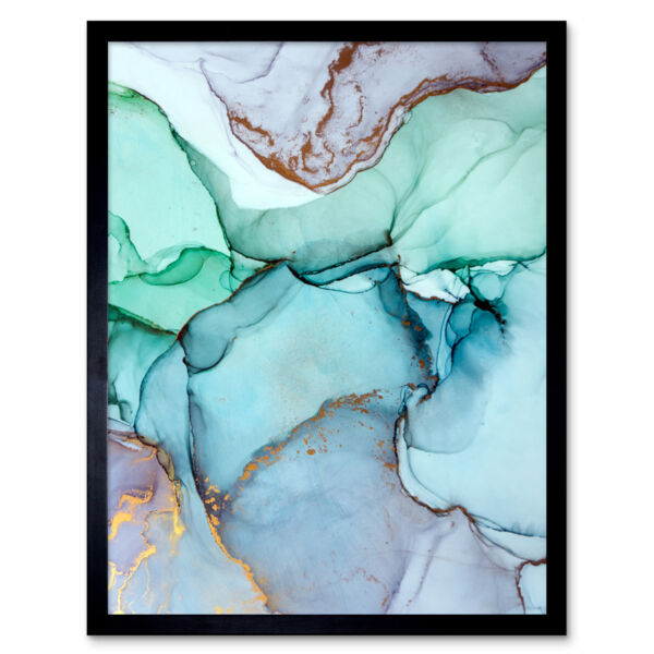 Royaume-UniAbstract Paint With Colours 12X16 Inch Framed Art Print