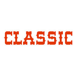 Classic Sticker - Western Decal - Choose Color Size