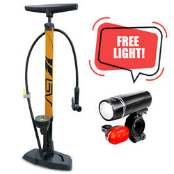 Kyпить BV Bike Pump Floor With Gauge Presta, Dunlop, Schrader Tire Air Inflator 160PSI на еВаy.соm