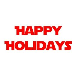 Happy Holidays Decal - Holiday Greeting - Choose Color Size