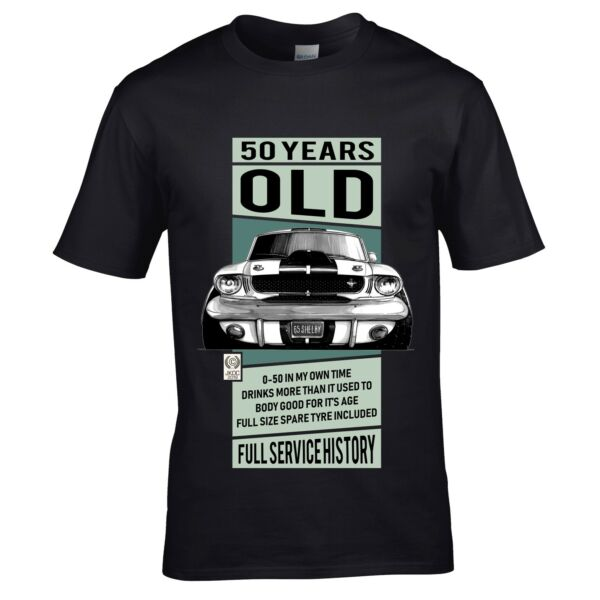 Royaume-UniDrôle 50 Ans Koolart USA Shelby MUSTANG Voiture Homme T-Shirt 50th Birthday Gift