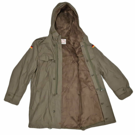 img-German Parka Original Army Jacket Military Fleece Lined Winter Hooded Coat Olive