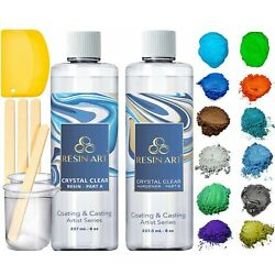Kyпить ResinArt 16oz Kit: Clear Casting & Coating Epoxy, 10 Mica Pigments, 2 Glow in... на еВаy.соm