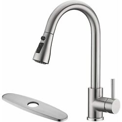 Kyпить Stainless Kitchen Sink Faucet Pull Out Sprayer Single Handle Mixer Tap w/ Cover на еВаy.соm