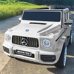 Kyпить 12V Kids Electric Ride on Car Toys Licensed Mercedes-Benz G63 w/ RC Music White на еВаy.соm