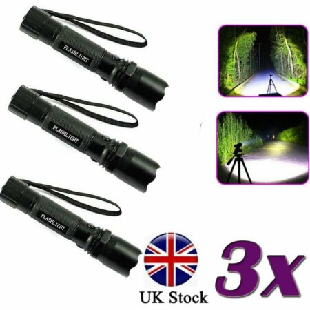 img-Police LED Super Bright Zoom Flashlight Powerful Camping Lamp Torch 150LM UK