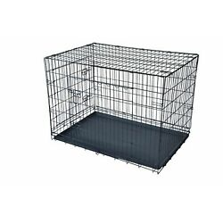 Kyпить Dog w/Divider Cat Crate Cage Kennel w/Tray LC Black 48