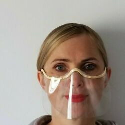 Kyпить Comfortable Transparent Face Shield Made in Europe. Wholesale lot of 50. на еВаy.соm
