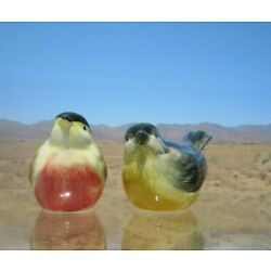 Kyпить Vintage, Porcelain Male & Female Robin Salt & Pepper Shakers на еВаy.соm