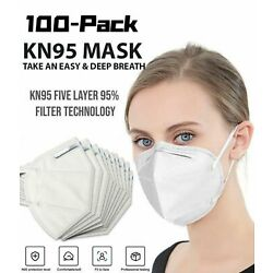 Kyпить [50 / 100 PCS] 5 Layers Face Mask Mouth & Nose Protector Respirator Masks White на еВаy.соm