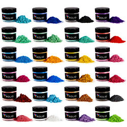 Kyпить Rolio Mica Powder - For Epoxy Resin, Slime, Candle, Soap, Cosmetic Making-24Jars на еВаy.соm