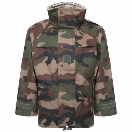 img-French Army Issue GoreTex Style Waterproof Jacket Outer-Layer Hooded CCE Camo