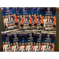 (24) 2018/19 Topps Match Attax Champions League Soccer Pack Lot-Messi, Mbappe