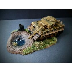 Airfix Lot Vintage Classic Tiger I  Painted and  weathered diorama 1/72nd scale