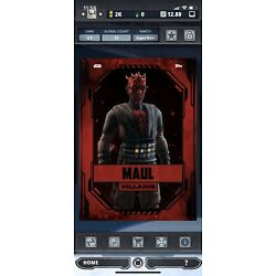 Kyпить 2021 Topps STAR WARS CARD TRADER WEEKLY RED VILLAINS | DARTH MAUL на еВаy.соm