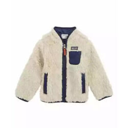 Kyпить NWT Patagonia Baby Toddler  Retro-X Fleece Jacket Natural Navy 12-18 months на еВаy.соm