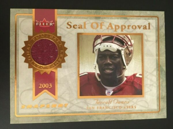 Haar,Deutschland2003 Fleer Snapshot Seal of Approval Jerseys Bronze SA-TO Terrell Owens ed/375