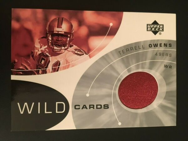 Haar,Deutschland2002 Upper Deck Wild Cards Jerseys WC-TO Terrell Owens