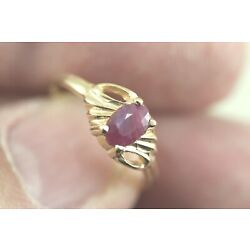 Kyпить Small 14k Ruby Ring Size 6 - Natural Ruby in Yellow Gold - Birthstone for July на еВаy.соm
