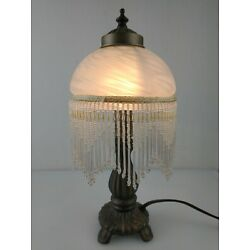 Kyпить Victorian style Frosted Beaded Shade Glass 13