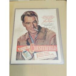 Kyпить Gary Cooper signed 1948 Chesterfield Cigarettes advertisement.Vintage autograph. на еВаy.соm