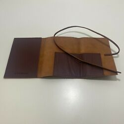 New Mark and Graham Leather Charger Roll Up YPO Italian Leather - Free Shipping