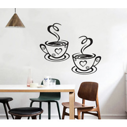 PVC COFFE CUP Kitchen WALL STICKER Decal Art Home decal