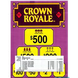 Kyпить Break-open Instants $1.00 5W 12,120ct CROWN ROYALE pull tab (12-$500's) на еВаy.соm