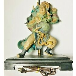 Kyпить Vintage Collectible Handmade Ancient Chinese Warrior Roof Tile Lamp на еВаy.соm
