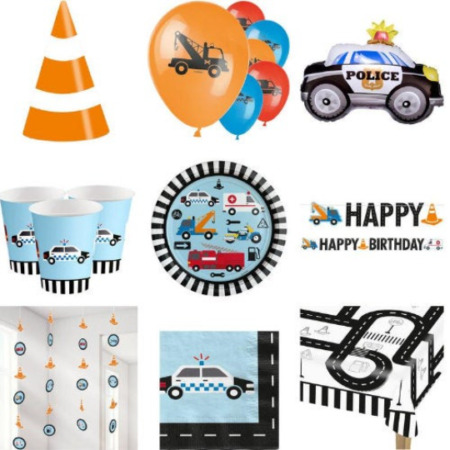img-Police Party Supplies, Construction Party Supplies, Firefighter Party Supplies