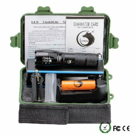 img-10000LM Tactical T6 LED Zoom Flashlight Torch Lamp Sets w/ 18650 Battery Charger