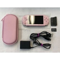 Kyпить [VERY GOOD] Playstation Portable PSP 3000 Blossom Pink Bundle Free FedEx Ship на еВаy.соm