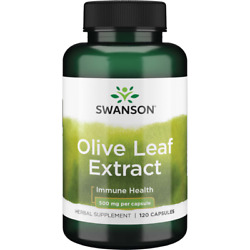 Swanson Olive Leaf Extract Capsules with 20% Oleuropein - Provides Immune Sup...